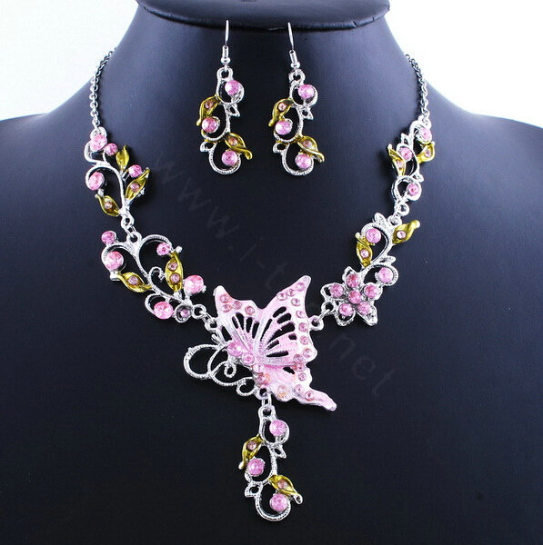 Buy wholesale vintage wedding bridal jewelry pink for Pink wedding jewelry sets