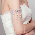 Angel wings Pearl Rhinestone Tassel Bridal Armlet Wedding Perform Bracelet Crystal Arm Chain