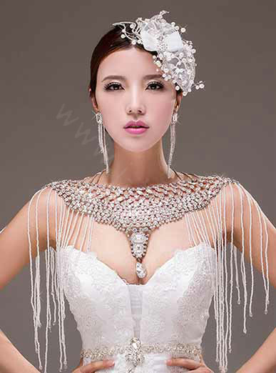 Buy Wholesale European Extreme Luxury Big Crystal Tassel Bridal