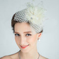 European Flower Crystal Gauze Bridal Fascinator Hair Accessories Wedding Dress Prom Hat Face Veils