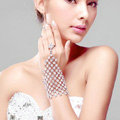 Gorgeous Squares Rhinestone Bridal Wrap Bracelet Bride Wedding Crystal Bangle Chain Jewelry