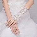Korea Retro Lace Flower Bridal Wristlet Wedding Dress Rhinestone Crystal Bracelet Chain Accessories