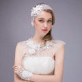 Luxurious Bride Crystal Lace Flower Wedding Shawl Bridal Duchess Shoulder Chain & Earrings Jewelry
