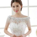 New Luxury Wedding Lace Flower Crystal Multi Layers Rhinestone Beads Tassel Bridal Shoulder Chain Strap jewelry