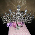 Oversize Crystal Bride Hair Accessory Wedding Tiaras Rhinestone Pageant Crowns Hair Ornament