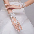 Sweety Style Lace Flower Rhinestone Bridal Wristlet Wedding Dress Perform Rhinestone Bracelet Accessories