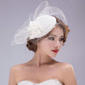 Vintage Gauze Bridal Fascinator Hair Clip Accessories Bride Wedding Dress Prom Hat Face Veils