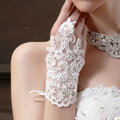 Vintage Lace Flower Rhinestone Bridal Wristlet Wedding Dress Perform Crystal Ribbon Bracelet Accessories