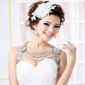 Wedding Flower Crystal Luxury Multi Layers Rhinestone Beads Bridal Shoulder Strap Necklace jewelry