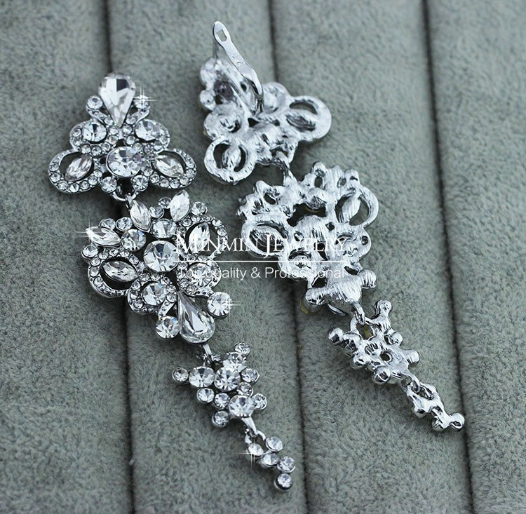 Wedding Earrings White Gold: Buy Wholesale Gorgeous Chandelier Shape Crystal White Gold