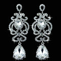 New Design Elegant Teardrop Austrian Crystal Banquet Bridal Drop Earrings White K Plated for Women