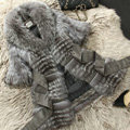 New Gorgeous Real Fox Fur Coat With Belt Women's Nature Fox Fur Jacket Winter Fur Outwear