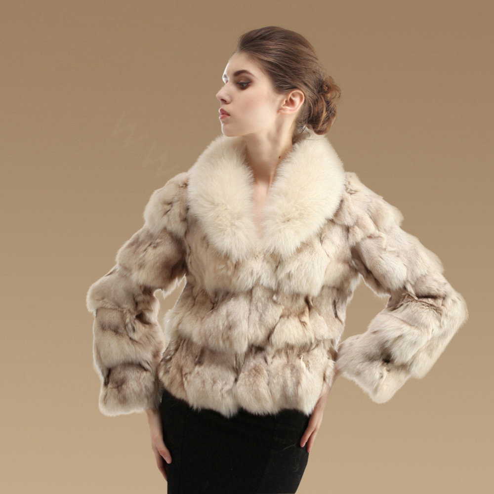 Buy Wholesale Women Luxury Genuine Fox Fur Coats Fashion Short ...