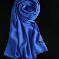 Colorful Unisex Scarf Shawl Winter Warm Cashmere Solid Panties 180*60CM - Blue