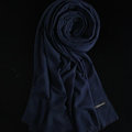 Colorful Unisex Scarf Shawl Winter Warm Cashmere Solid Panties 180*60CM - Dark Blue