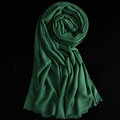 Colorful Unisex Scarf Shawl Winter Warm Cashmere Solid Panties 180*60CM - Dark Green