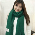 Cute Unisex Scarf Shawl Winter Warm Wool Solid Wraps 180*60CM - Green