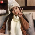 Cute Unisex Scarf Shawl Winter Warm Wool Solid Wraps 180*60CM - White