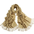 Exquisite Scarf Shawls Winter Warm Cashmere Solid Wholesale 200*60CM - Beige