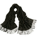 Exquisite Scarf Shawls Winter Warm Cashmere Solid Wholesale 200*60CM - Black
