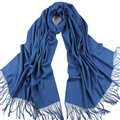 Exquisite Scarf Shawls Winter Warm Cashmere Solid Wholesale 200*60CM - Blue