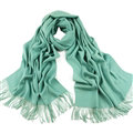 Exquisite Scarf Shawls Winter Warm Cashmere Solid Wholesale 200*60CM - Green