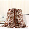 Fashion Women Print Bamboo Fiber Scarves Wraps Scarf Shawl 180*90CM - Beige