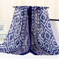 Fashion Women Print Bamboo Fiber Scarves Wraps Scarf Shawl 180*90CM - Blue