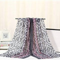 Fashion Women Print Bamboo Fiber Scarves Wraps Scarf Shawl 180*90CM - Grey