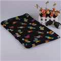 Fashion Women Scarf Print Animal Bamboo Fiber Scarves Wraps 180*90CM - Black