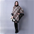 Plaid Scarf Shawls Pashmina Winter Warm Cashmere Solid Wholesale 100*90CM - Grey
