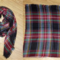 Plaid Scarf Shawls Women Winter Warm Cashmere Solid Wholesale 140*140CM - Blue