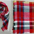 Plaid Scarf Shawls Women Winter Warm Cashmere Solid Wholesale 140*140CM - Red