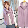 Pretty Unisex Scarf Shawl Winter Warm Cashmere Solid Panties 220*60CM - Purple