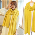 Pretty Unisex Scarf Shawl Winter Warm Cashmere Solid Panties 220*60CM - Yellow