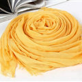 Unique Solid Scarf Shawls Women Winter Warm Cotton Panties 190*60CM - Yellow