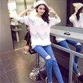 Fashion Sweater Female Sweet Temperament Women Plush Warm - Pink