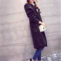Sweater Fashion Female Solid Hooded Cardigan Thick Warm Flat Knitted - Black