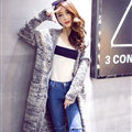 Winter Sweater Cardigan Coat Female Long Thin Thick Pocket - Grey