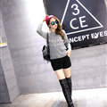 Winter Sweater Female Slim Warm Personality All-Match O-Neck - Grey