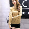 Winter Sweater Female Slim Warm Personality All-Match O-Neck - Khaki