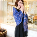 Cute Zebra Print Scarves Wrap Women Winter Warm Cashmere 180*65CM - Blue