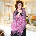 Cute Zebra Print Scarves Wrap Women Winter Warm Cashmere 180*65CM - Purple