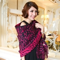 Cute Zebra Print Scarves Wrap Women Winter Warm Cashmere 180*65CM - Rose