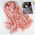 Floral Printed Scarf Shawls Women Winter Warm Cotton Panties 200*70CM - Pink