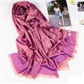 Floral Printed Scarf Shawls Women Winter Warm Cotton Panties 200*70CM - Purple