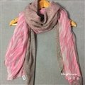 Free Zebra Print Scarves Wrap Women Winter Warm Polyester Panties 180*100CM - Pink