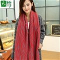 Free Zebra Print Women Scarf Bamboo Fiber Warm Scarves Wraps 180*70CM - Red
