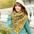 Fringed Leopard Print Scarves Wrap Women Winter Warm Acrylic Panties 195*60CM - Yellow