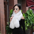Funky Bridal Fur Scarf Shawls Women Winter Warm Solid Panties 120*20CM - White